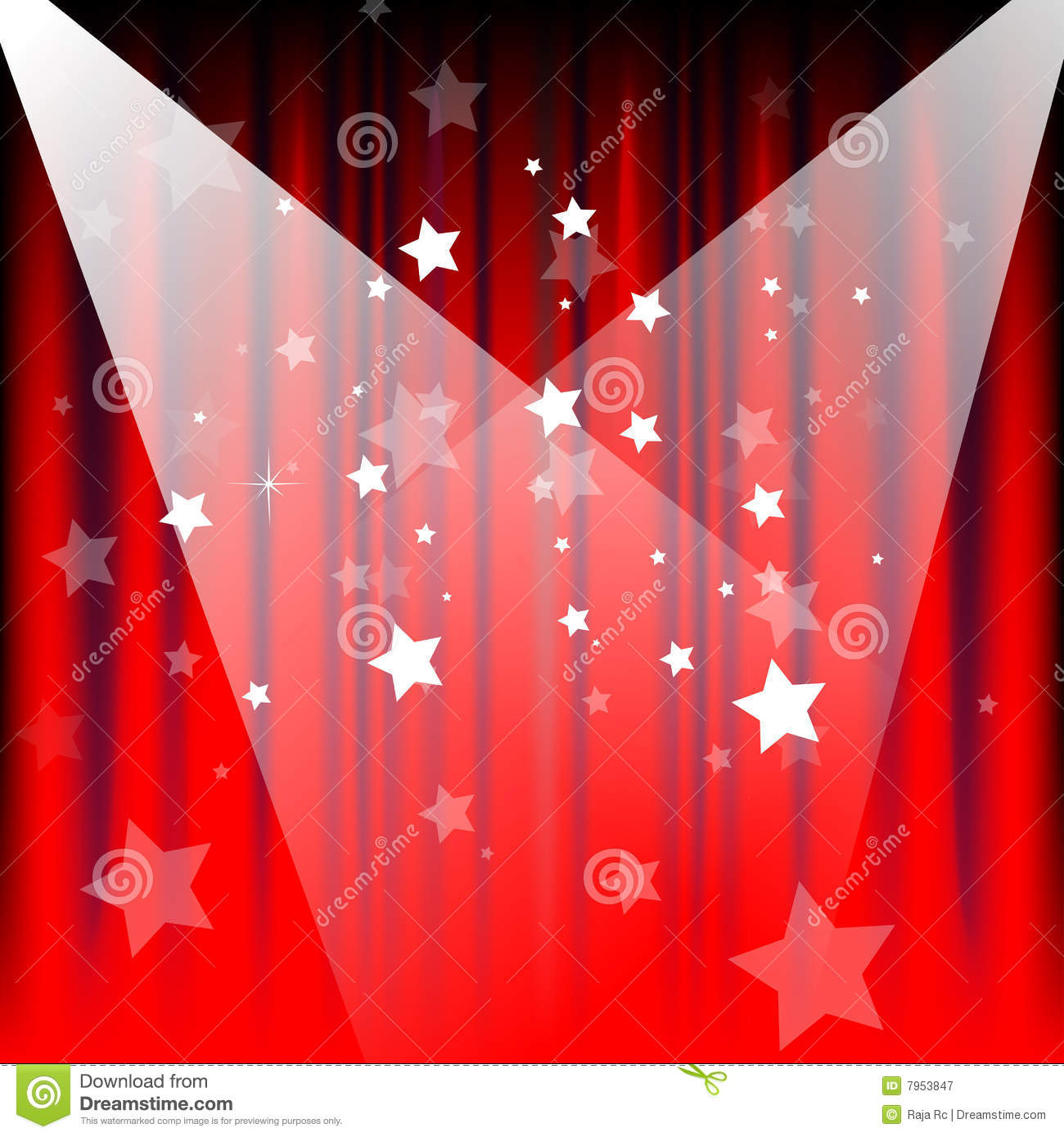 Stage Curtains Royalty Free Stock Photography - Image: 7953847