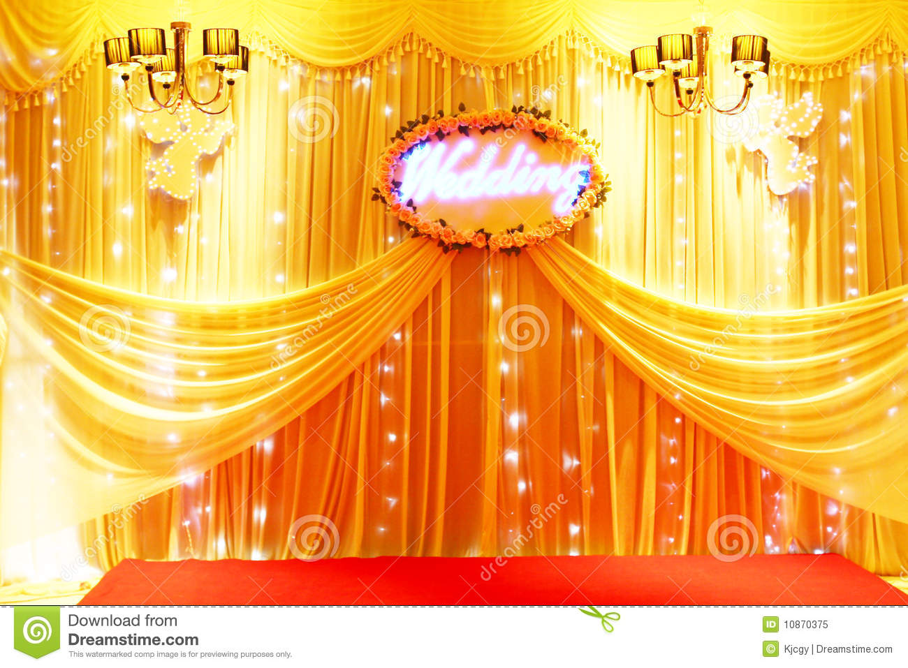 Stage decoration stock image image of yellow carpet 10870375 stage decoration junglespirit Gallery