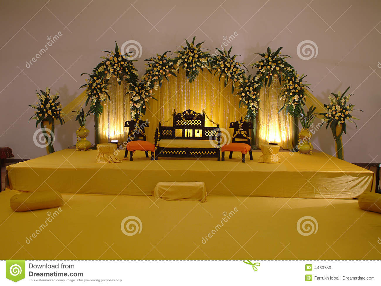 Maharashtrian Wedding Stage Decoration : Stage decoration stock photo image