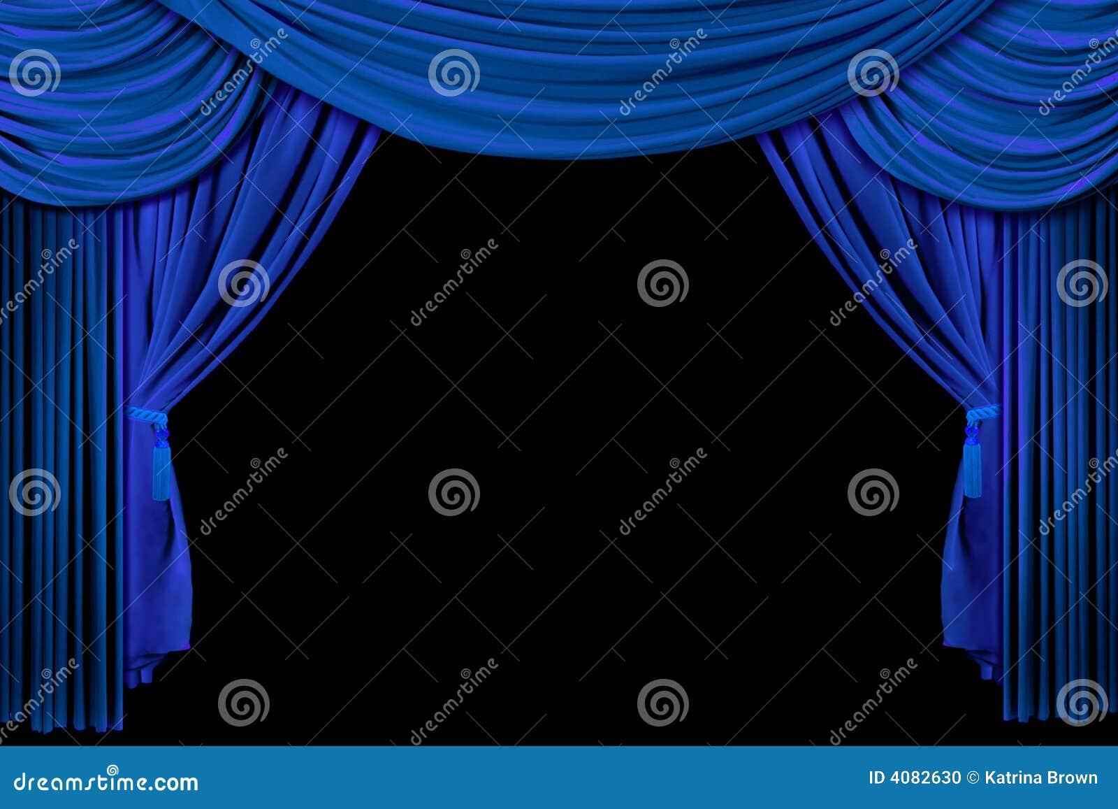 Black theatre curtain - Royalty Free Stock Photo