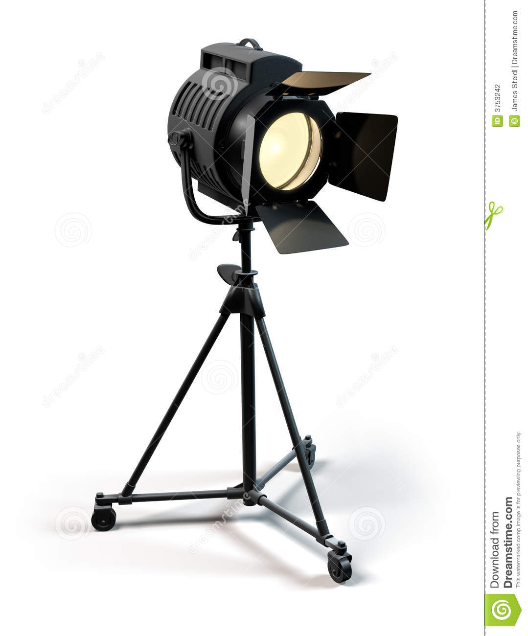 Stage Light Stock Illustration. Illustration Of Silver