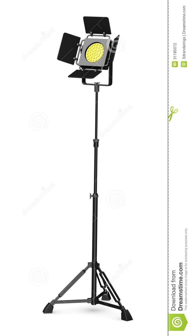 Stage Light On Stand Stock Illustration Image Of Ramp