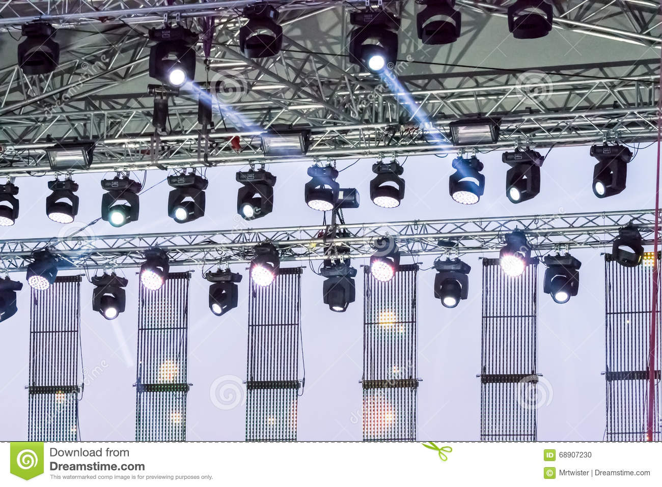 Royalty-Free Stock Photo. Download Stage Lighting Equipment ... & Stage Lighting Equipment Stock Photo - Image: 68907230 azcodes.com