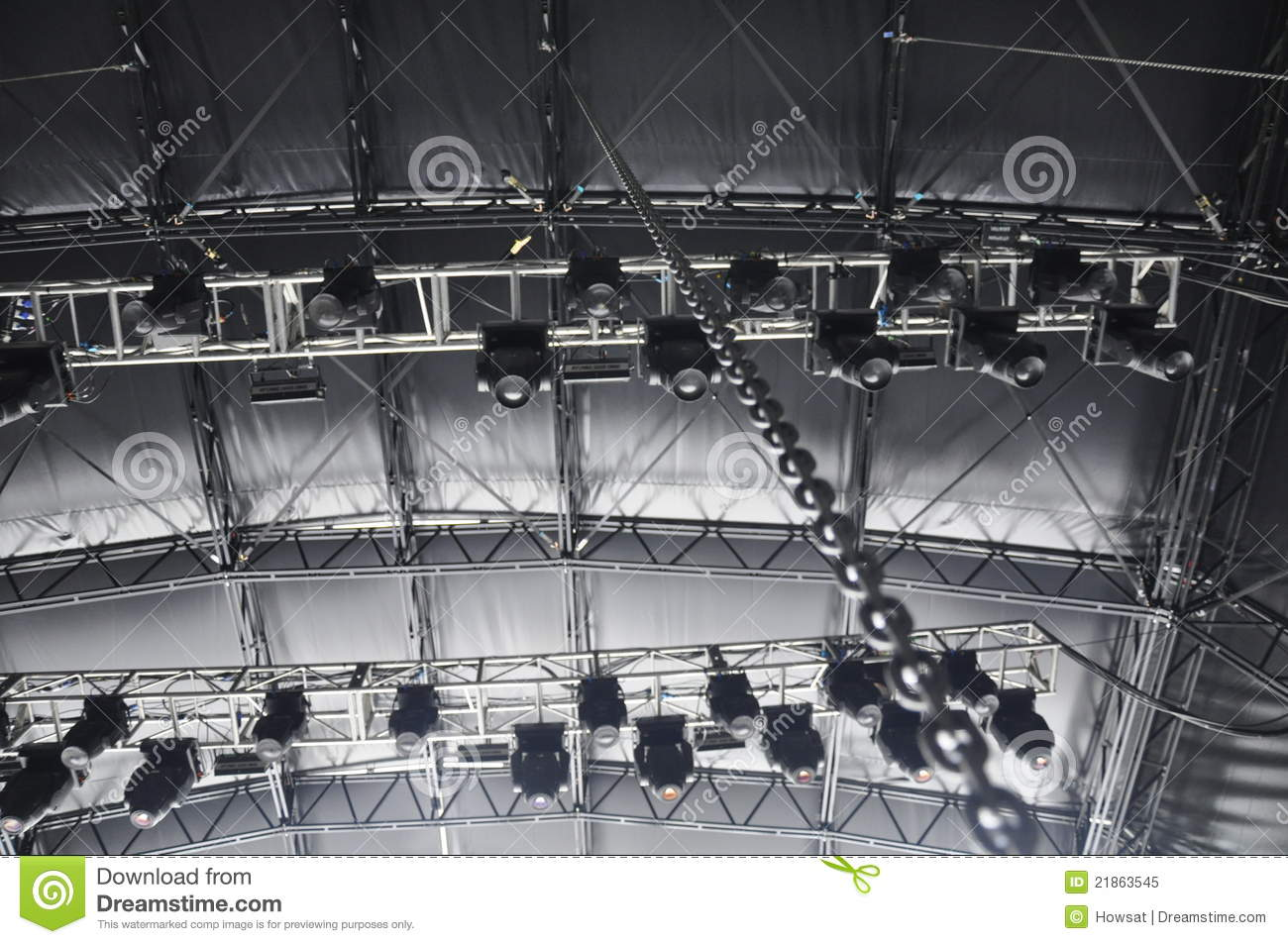 Stage Lighting Rigging Stock Image Image Of Show Moving