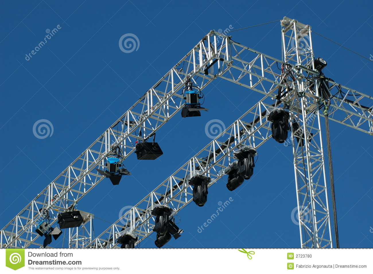 Stage lighting system stock photo image of lights metal 2723780 stage lighting system lights metal aloadofball Images