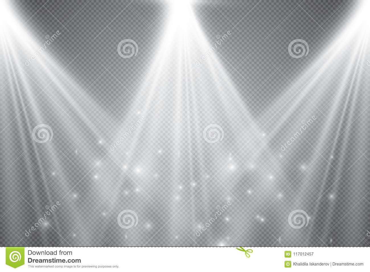 Stage Lighting Transparent Effects Bright Lighting With Spotlights