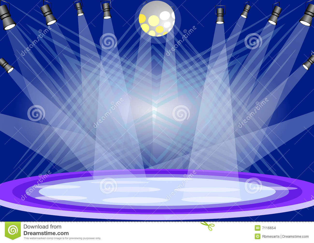 Stage Lights Stock Vector Illustration Of Costume Illustrated