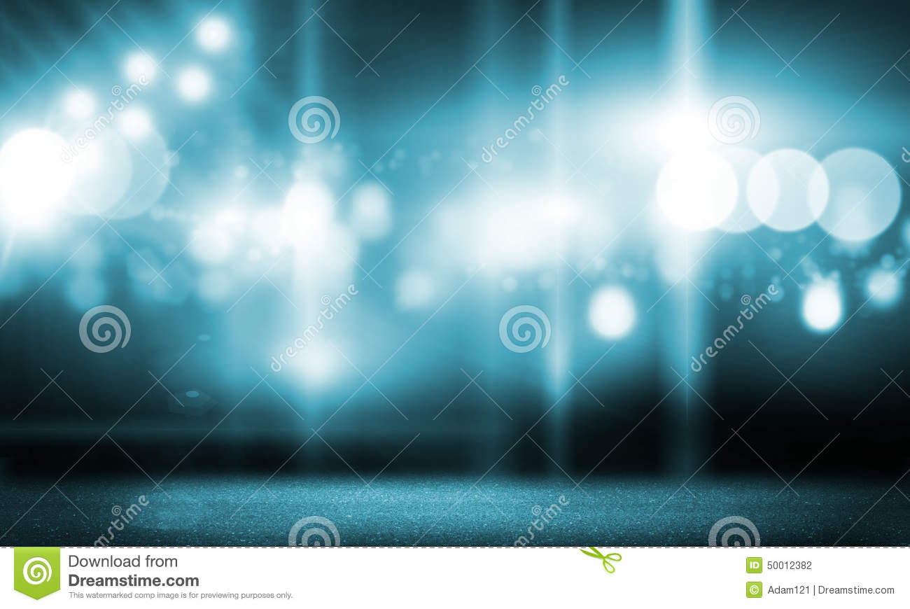 Empty stage curtains with lights - Stage Lights Stock Photo Image 50012382
