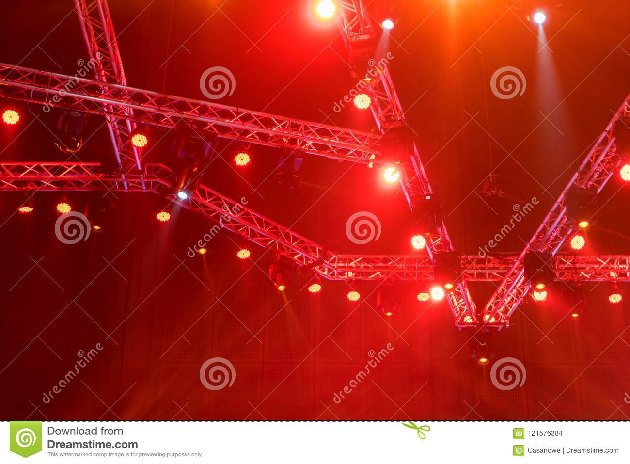 Stage lights on concert or Lighting equipment with Laser rays be