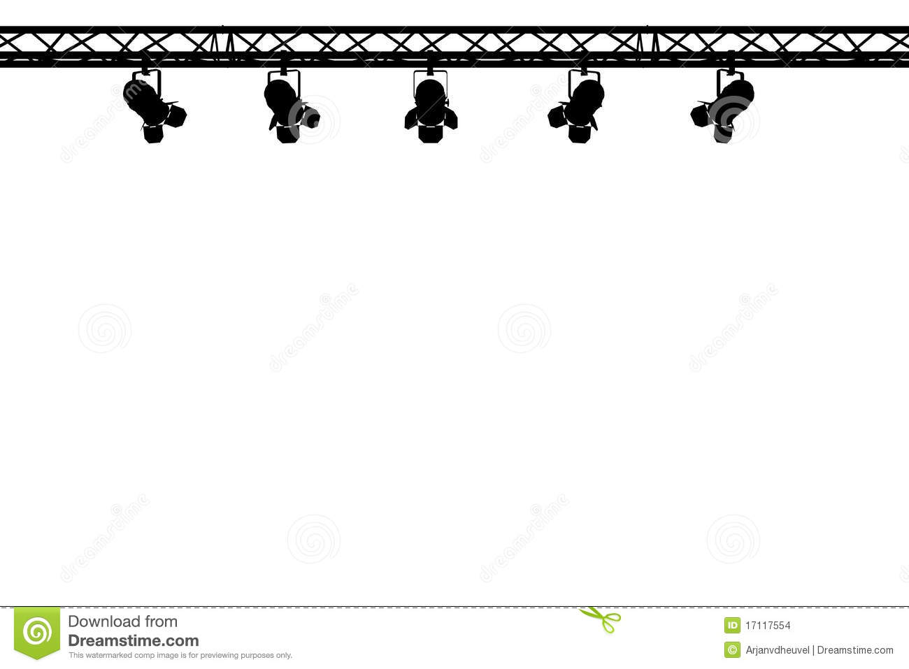 Empty stage curtains with lights - Stage Lights Silhouette Stock Images Image 17117554