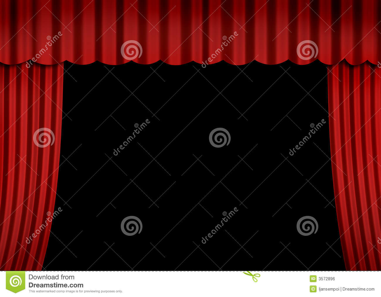 Stage With Red Curtain Royalty Free Stock Image - Image: 3572896