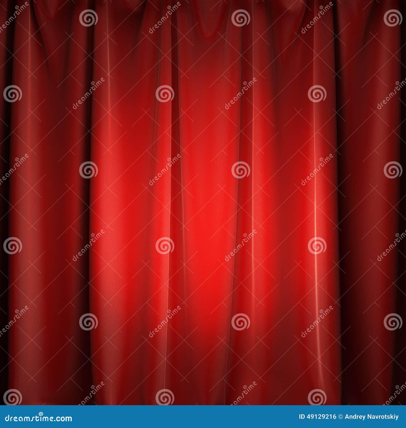 Red curtains with spotlight - Red Spotlight