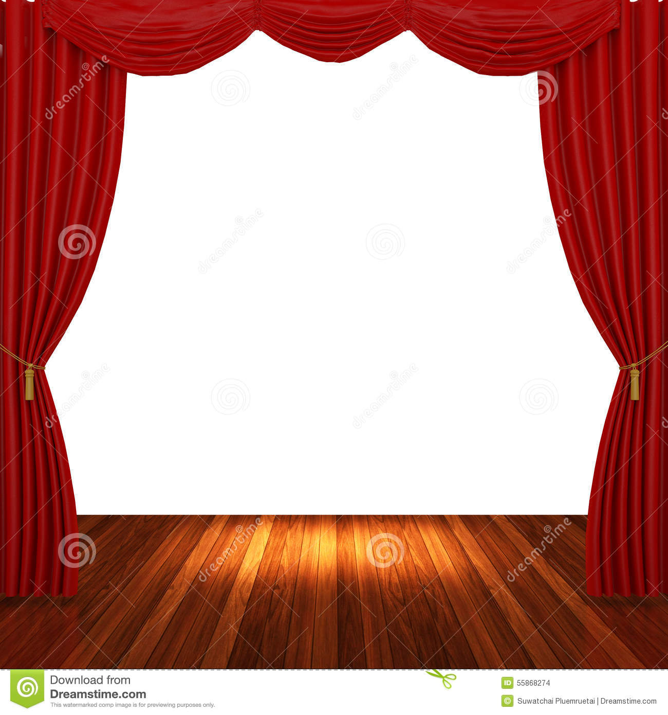 Stage curtains spotlight - Royalty Free Stock Photo Download Stage With Red Curtains And Spotlight