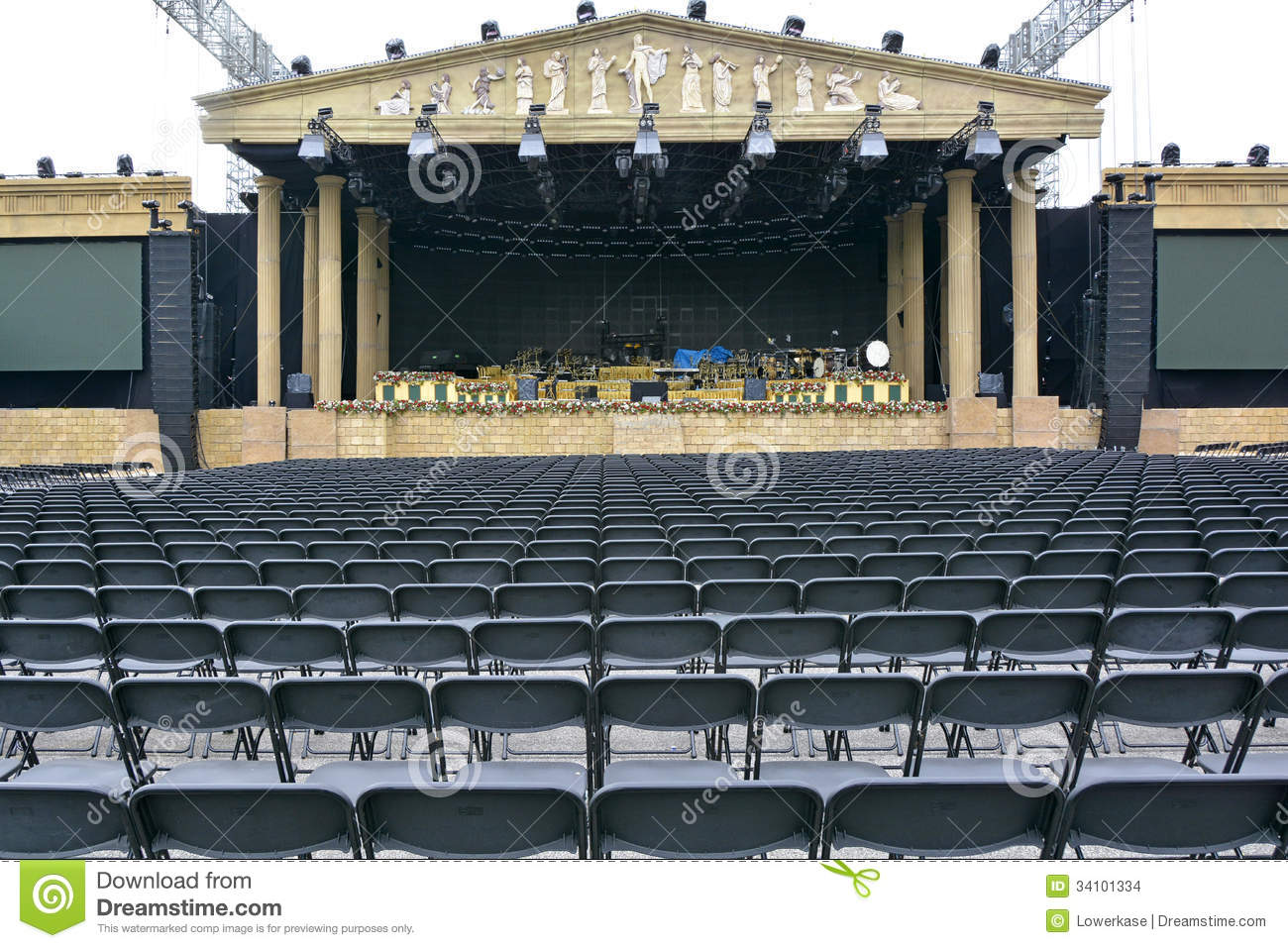 Stage And Seating For A Music Concert Stock Images Image