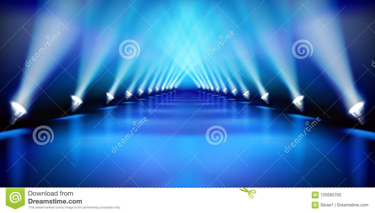 Stage Before The Show Fashion Runway Vector Illustration