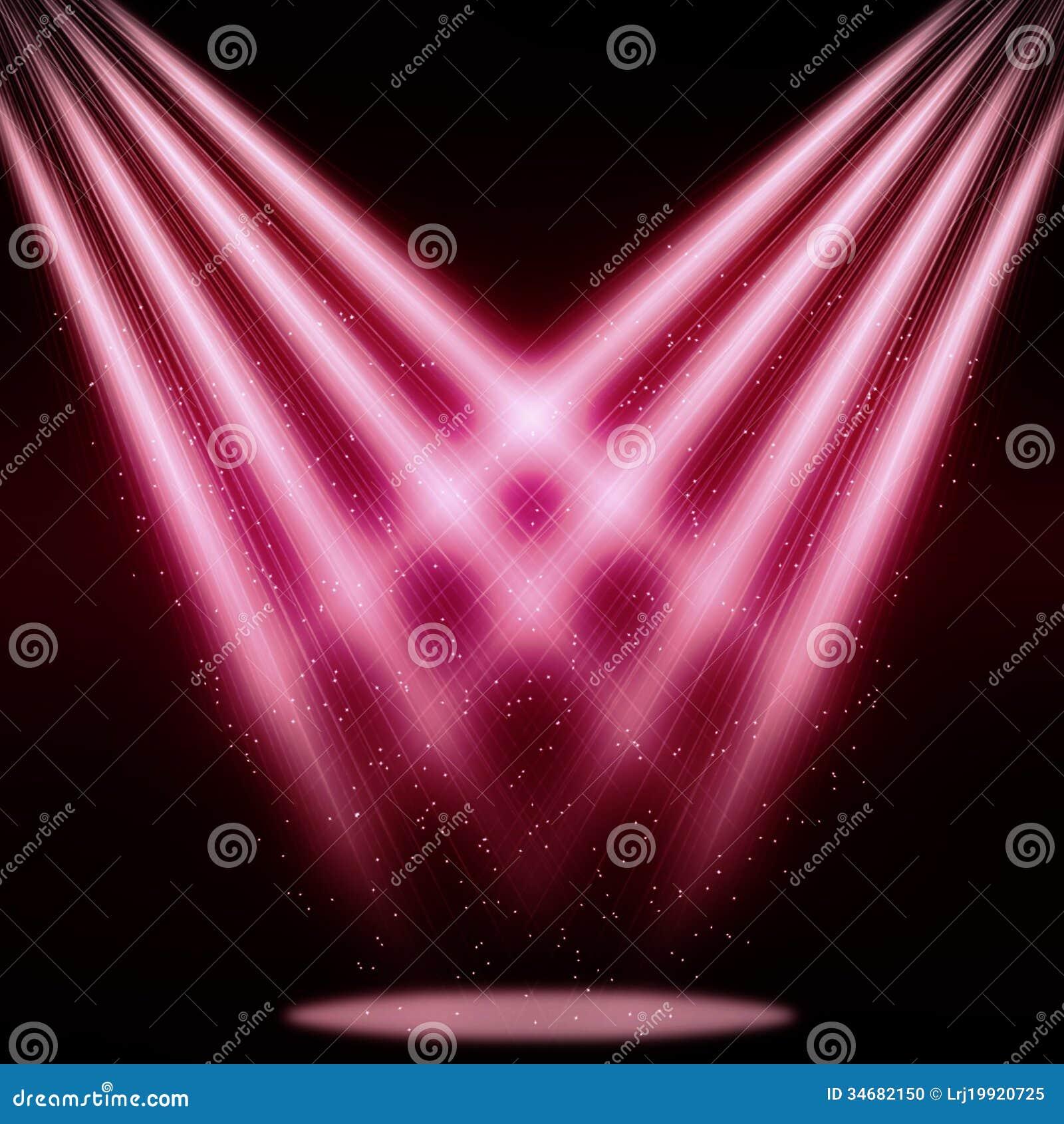 stage sparkling spotlight pink stock photo image 34682150