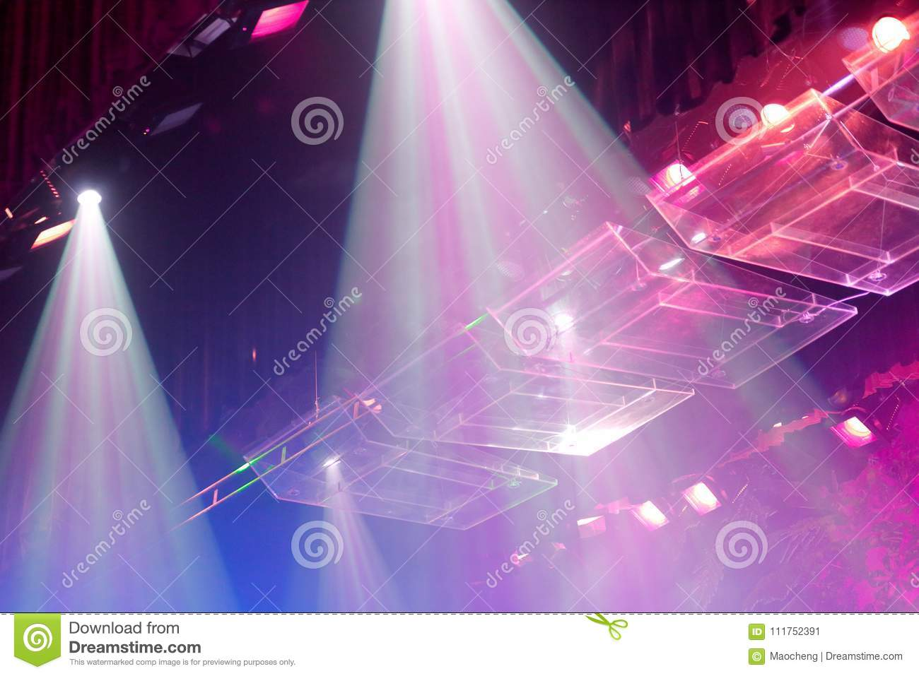 Stage ultra violet lights, srgb image
