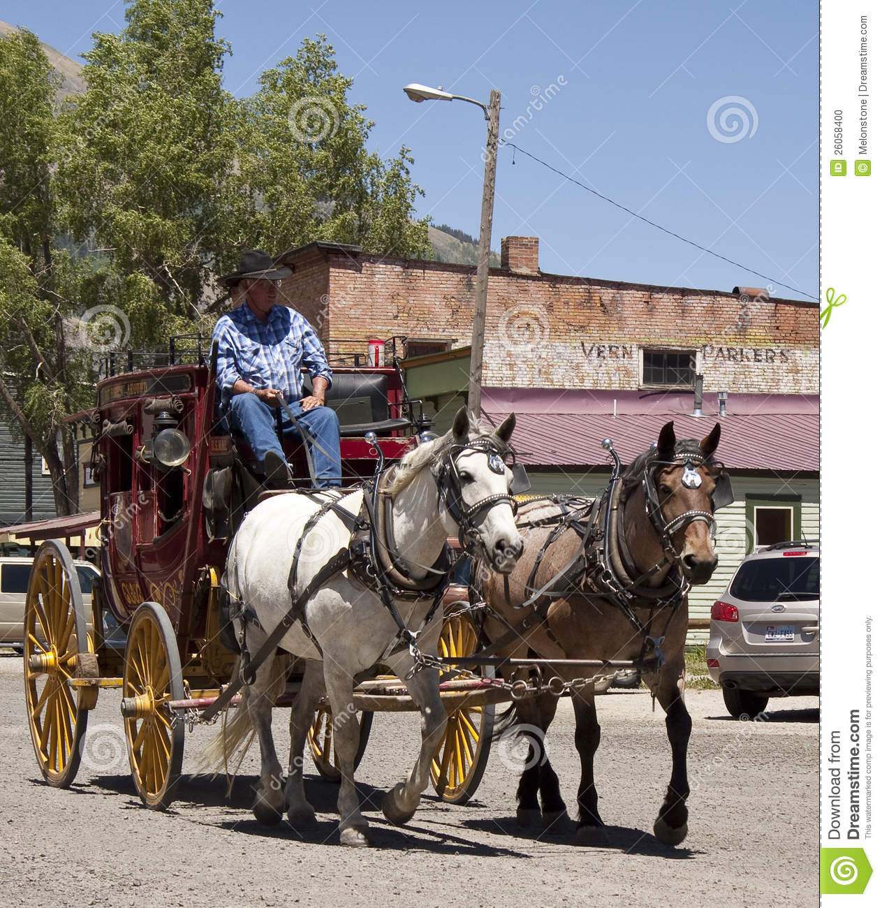 Stagecoach In Historic Street