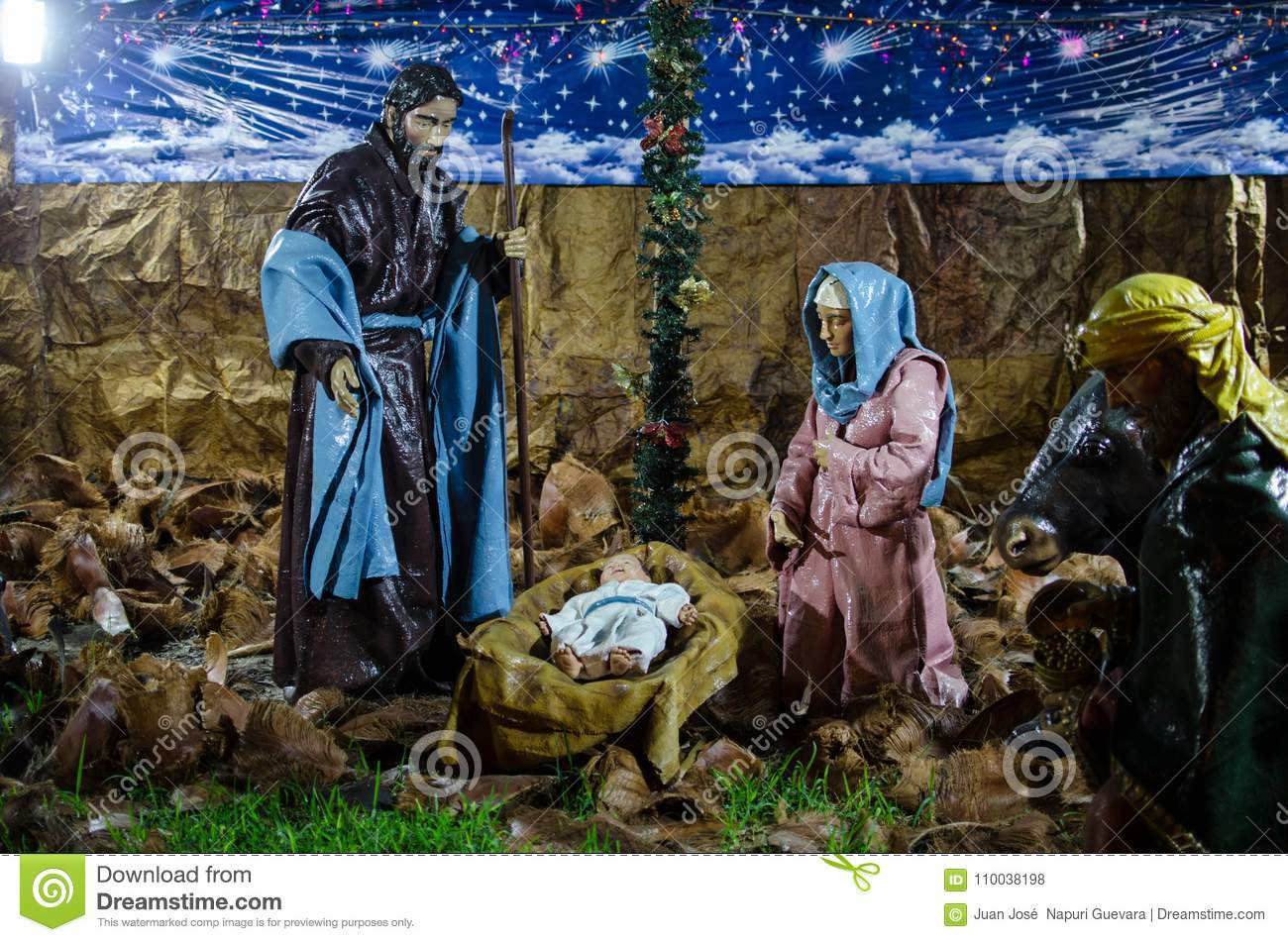 Staging of the birth of Jesus