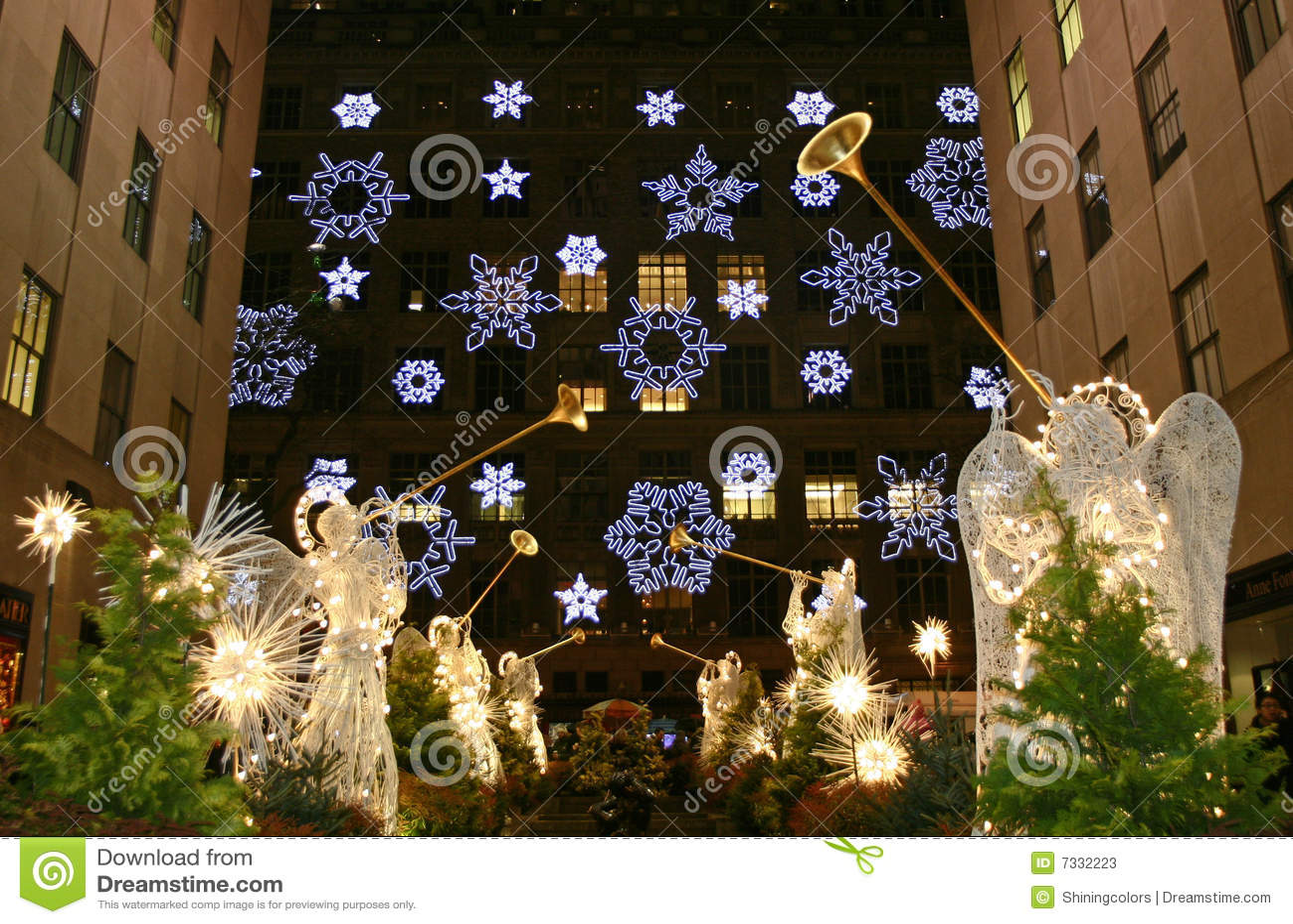 Albero Di Natale New York.Stagione Di Natale A New York Fotografia Stock Editoriale Immagine