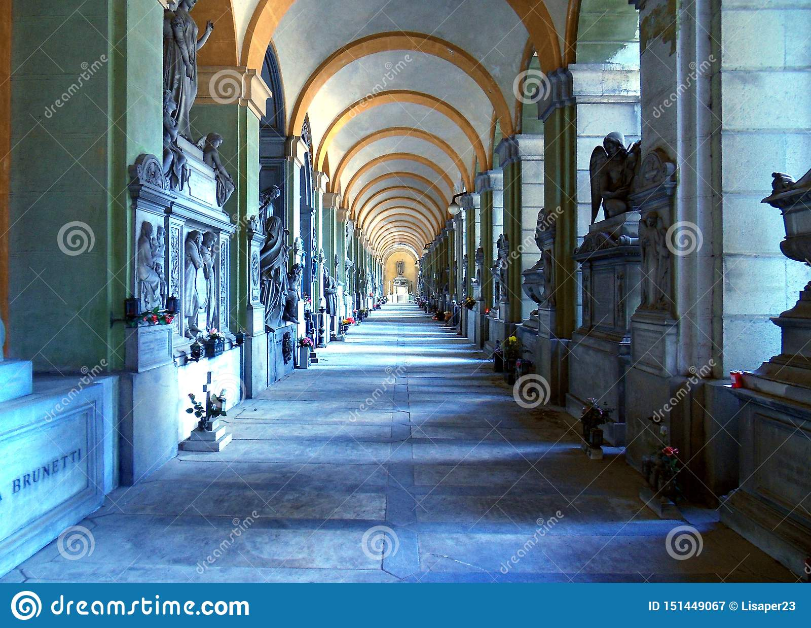 Staglieno公墓,艺术领土
