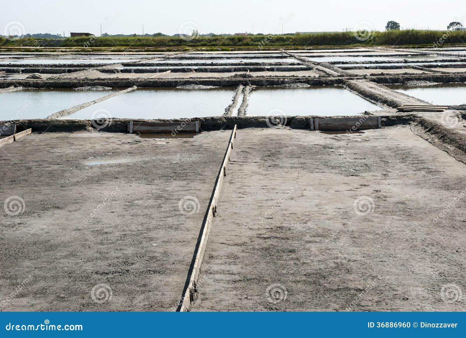 Download Stagni Di Evaporazione Dell'azienda Agricola Del Sale, Portogallo Fotografia Stock - Immagine di salato, fila: 36886960
