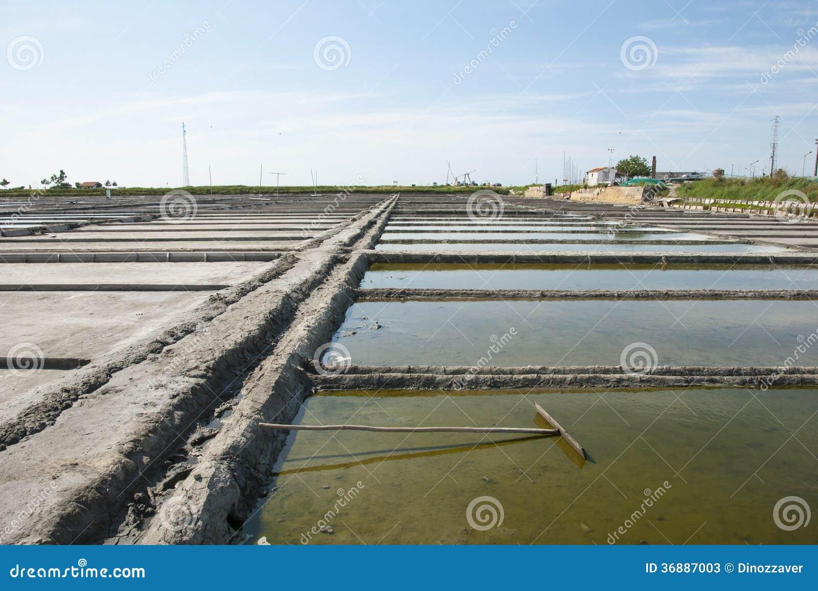 Download Stagni Di Evaporazione Dell'azienda Agricola Del Sale, Portogallo Immagine Stock - Immagine di podere, seawater: 36887003
