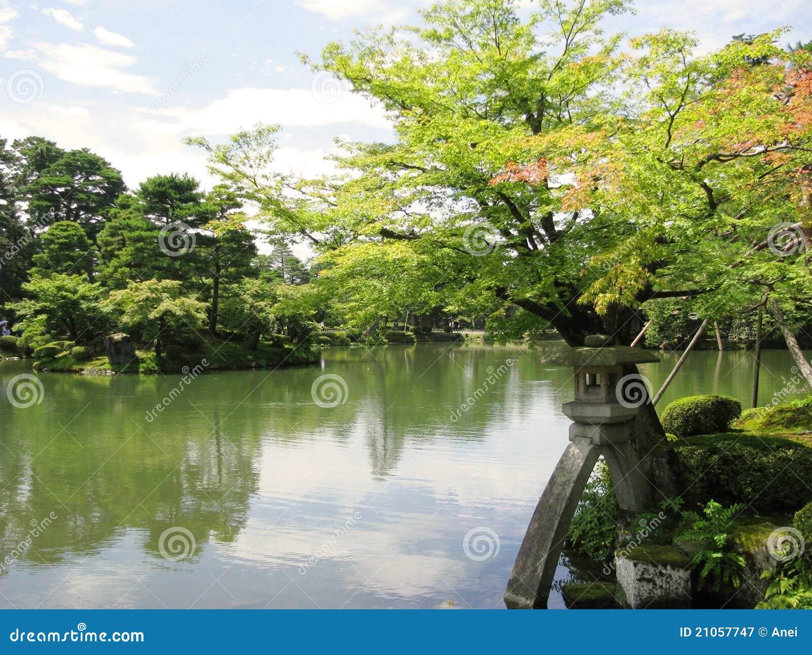 Stagno del giardino di kenrokuen immagine stock immagine for Stagno da giardino