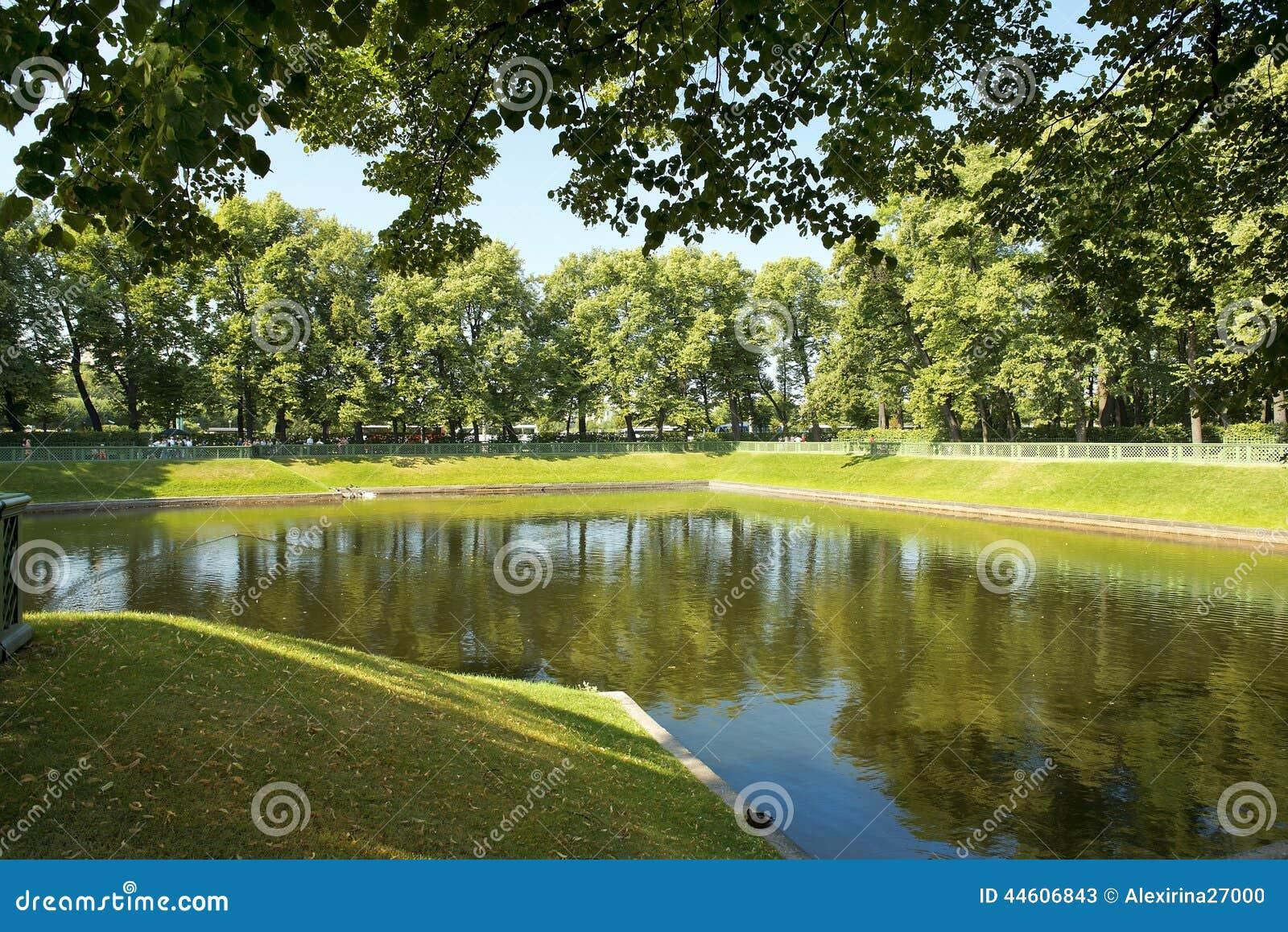 Stagno nel giardino di estate san pietroburgo russia for Stagno giardino