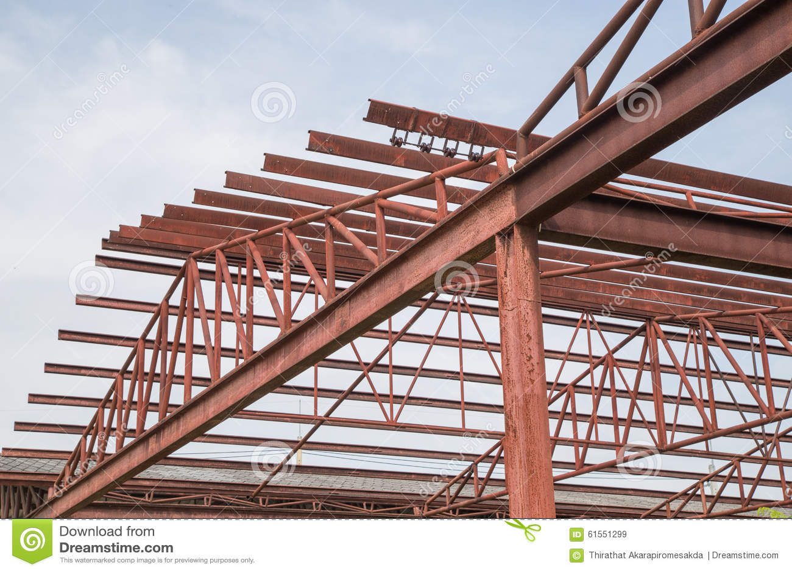 Stahlbau-Rahmen stockbild. Bild von gewebe, zustand, zimmerei - 61551299