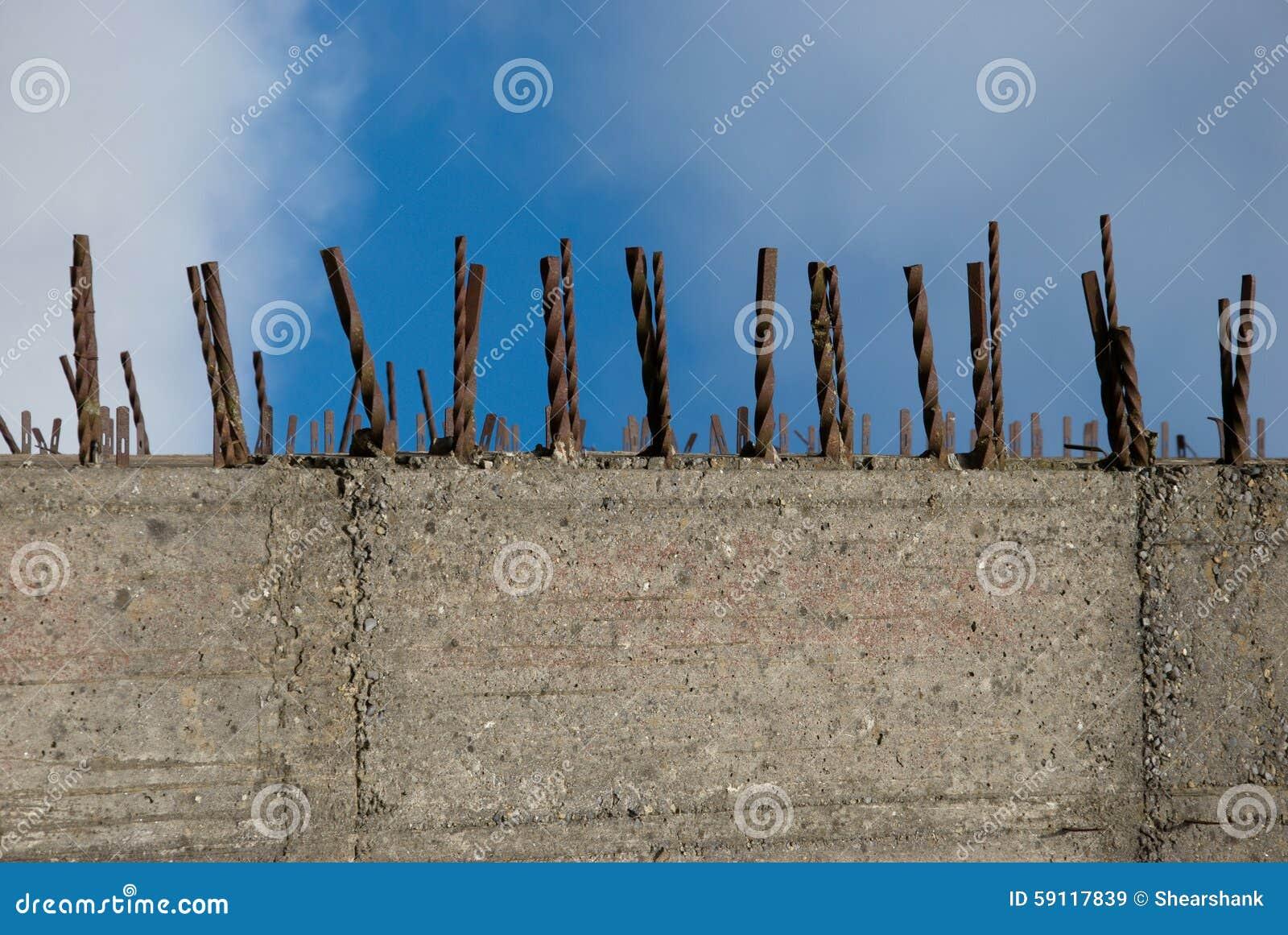 Stahlbeton Wand Stockbild Bild Von Aufbau Wand Verschalung 59117839