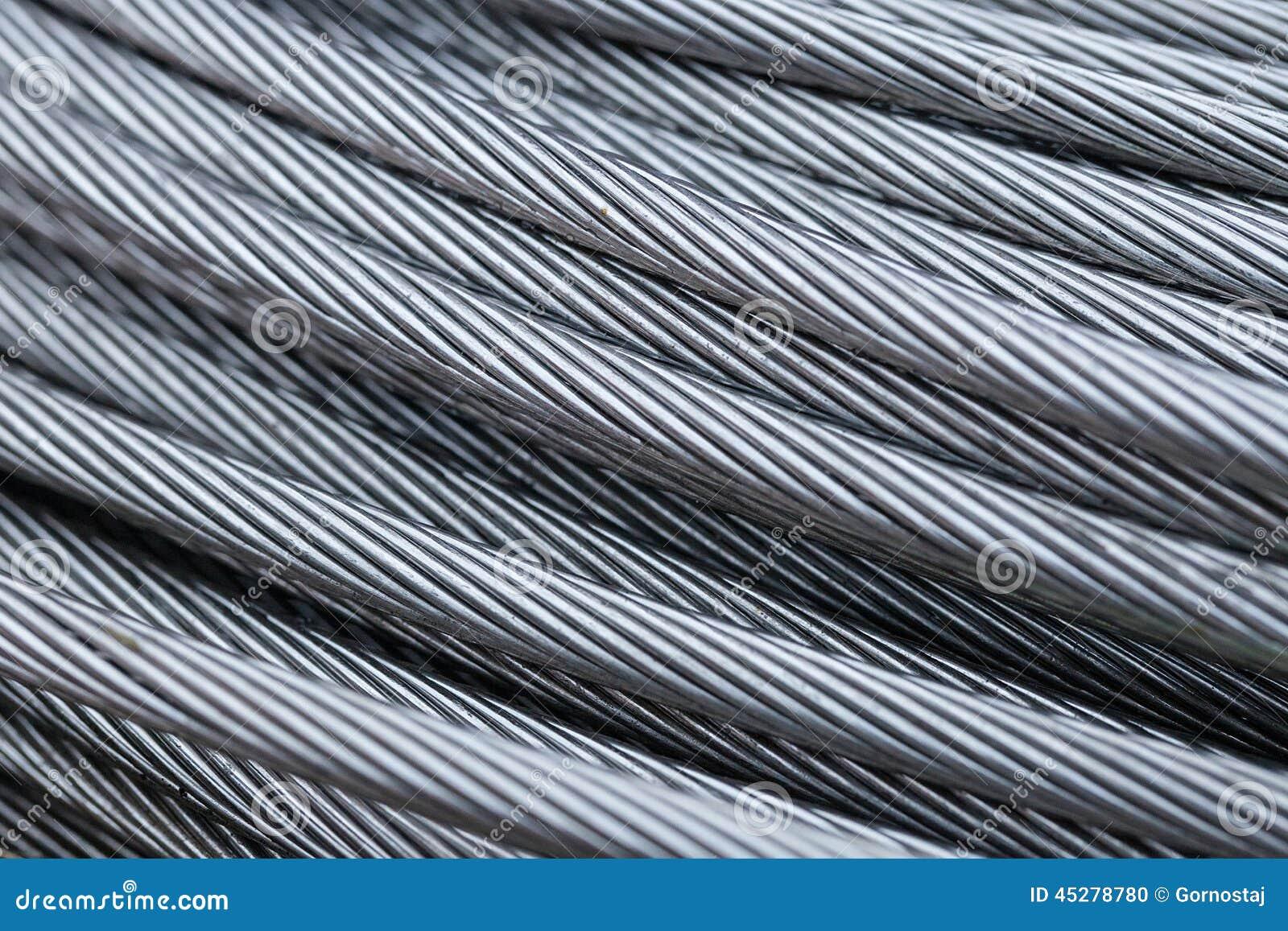 Stahldrahtseil-Kabelnahaufnahme Stockfoto - Bild von abschluß ...