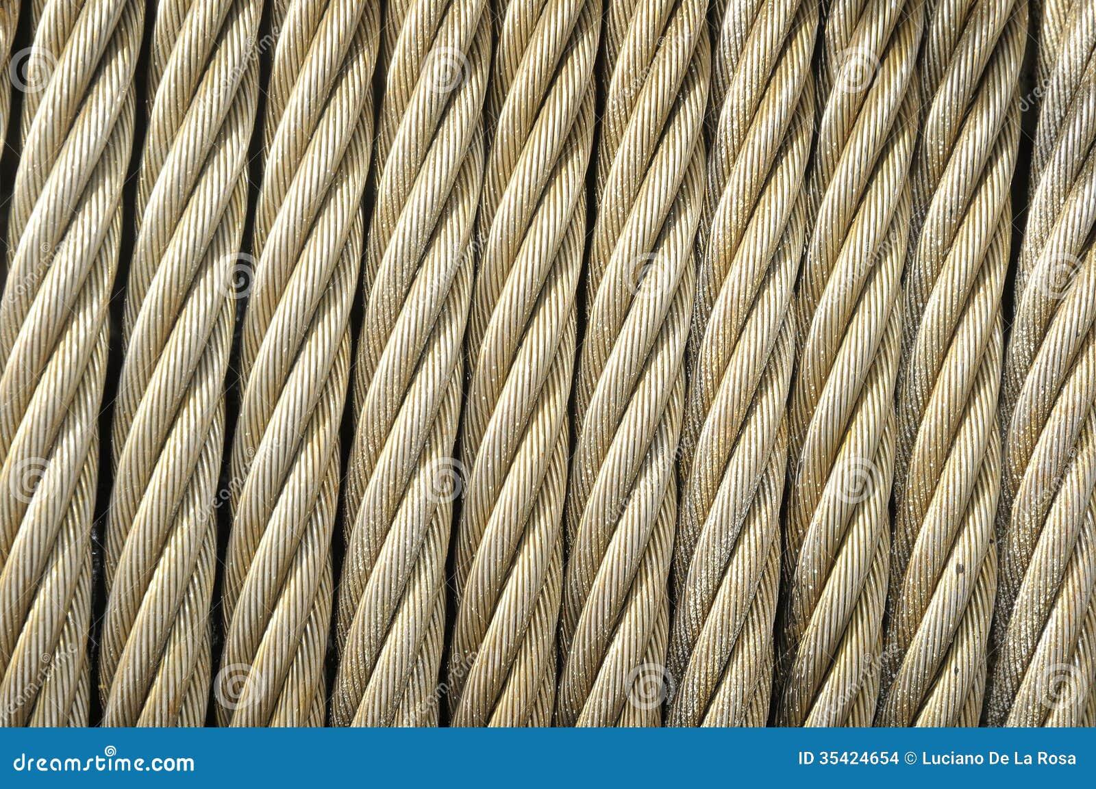 Stahlkabel-Abschluss oben stockfoto. Bild von stahl, silber - 35424654