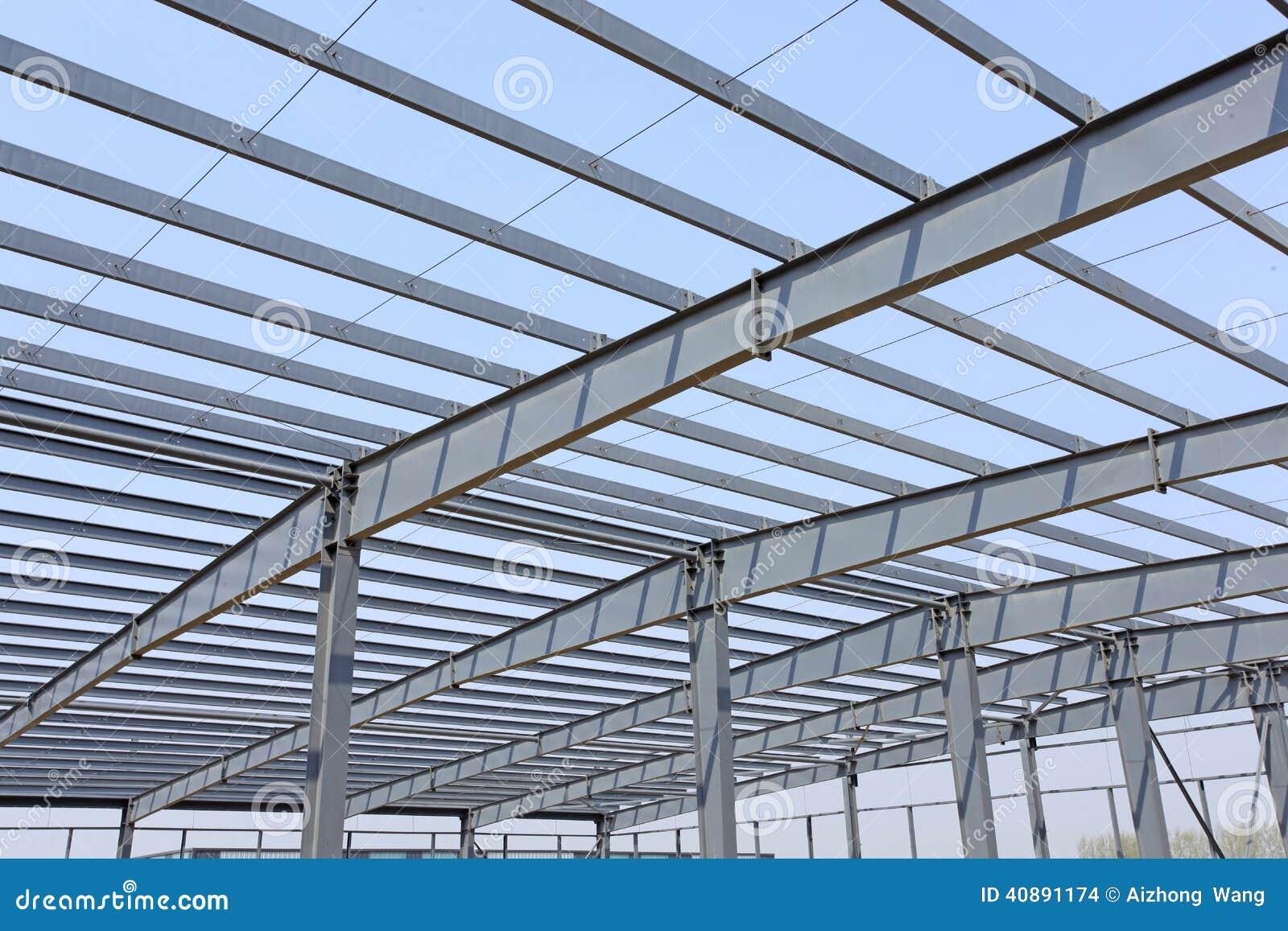 Stahlrahmenkonstruktion stockfoto. Bild von metall, stahl - 40891174