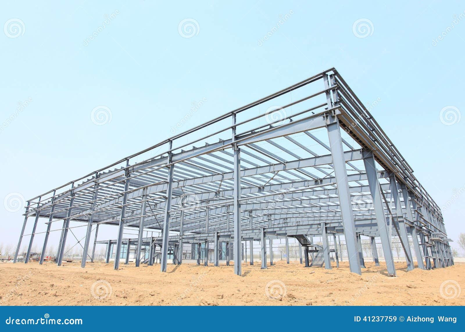 Stahlrahmenkonstruktion stockbild. Bild von unfertig - 41237759