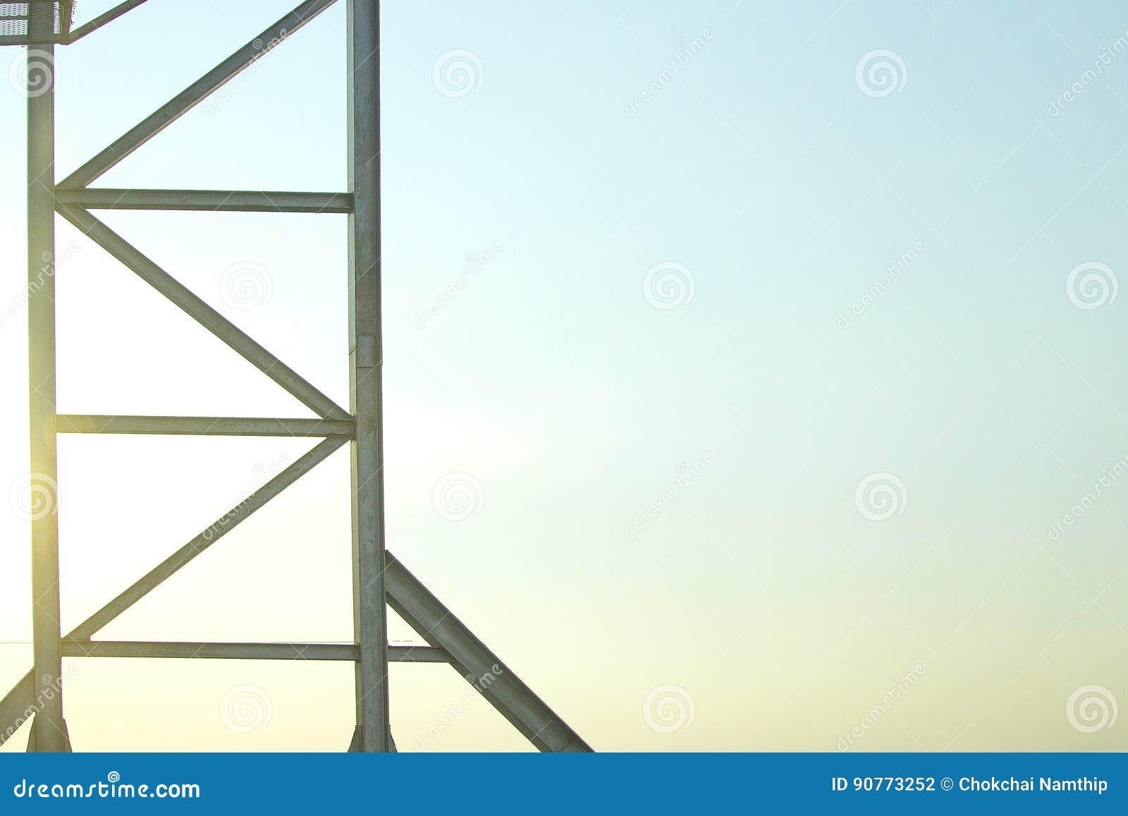 Stahlrahmenkonstruktion Ist Für Hintergrund Alt Stockfoto - Bild von ...