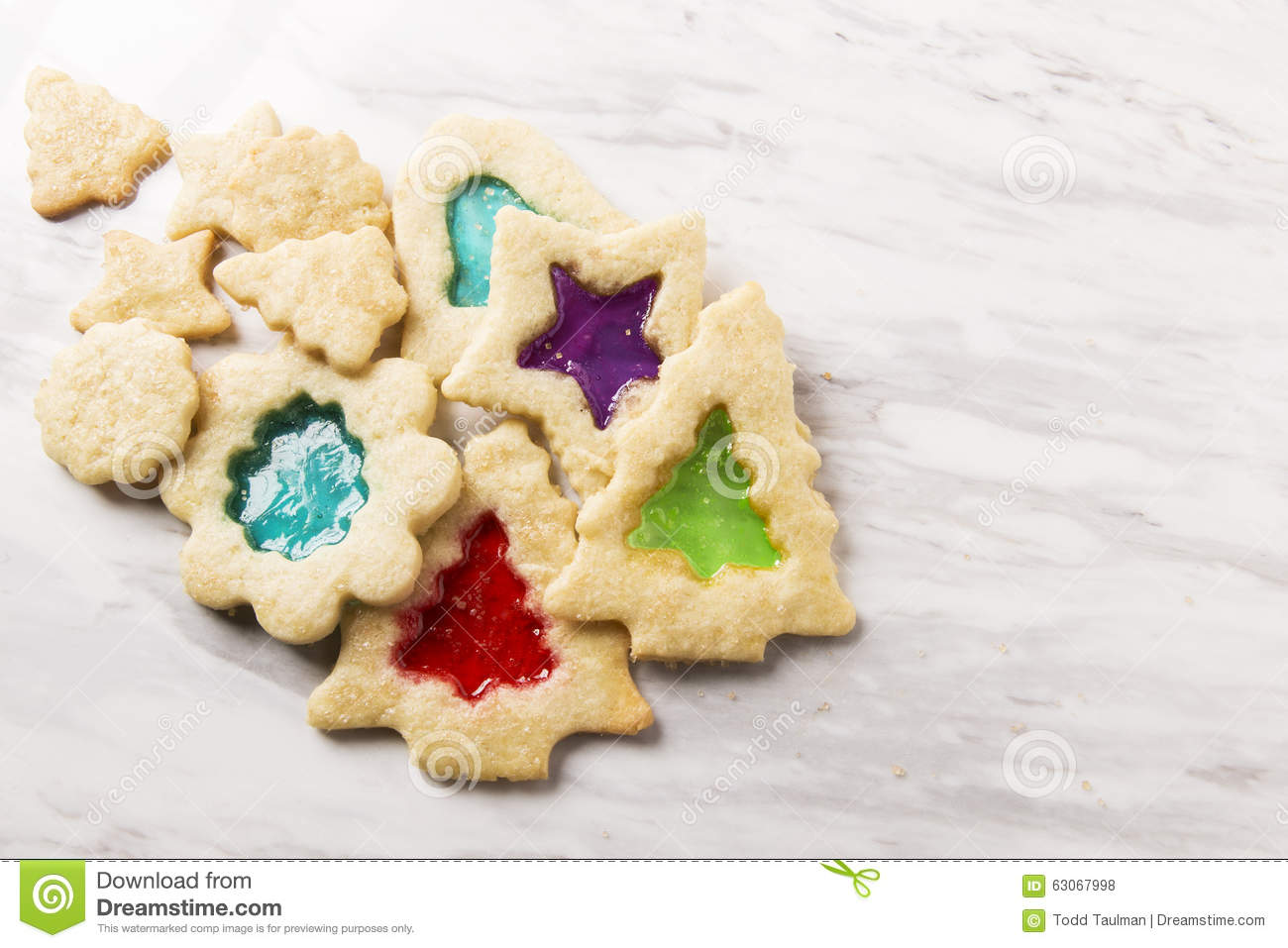 Stain Glass Christmas Cookies Stock Photo Image Of Purple Stained