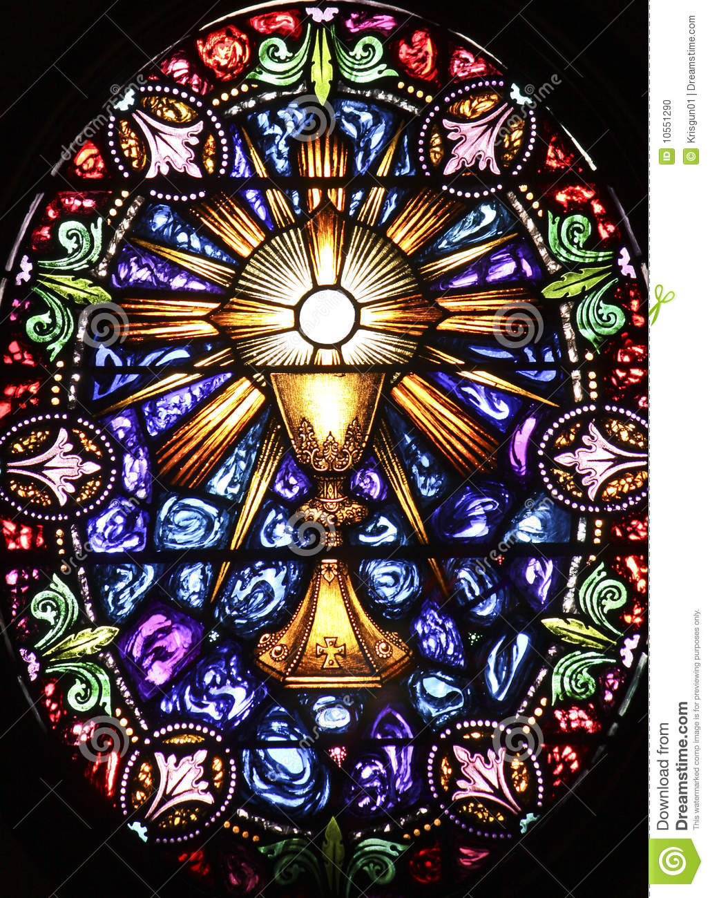 Stained Glass Stock Photo Image 10551290