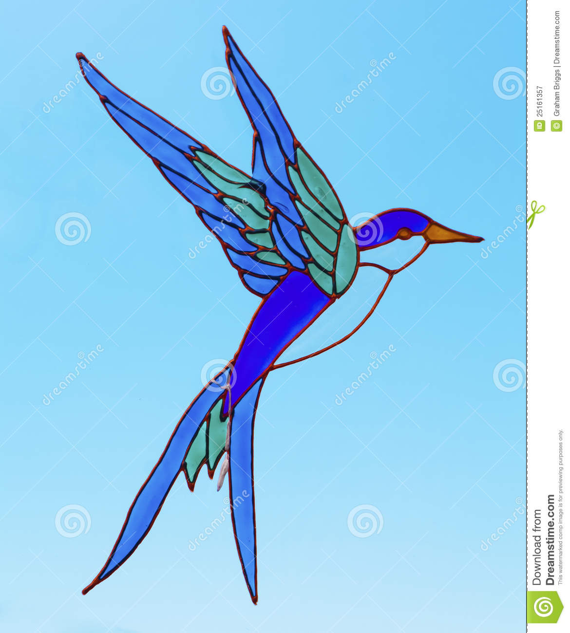 Stained Glass Bird Stock Image Image Of Bird Colored