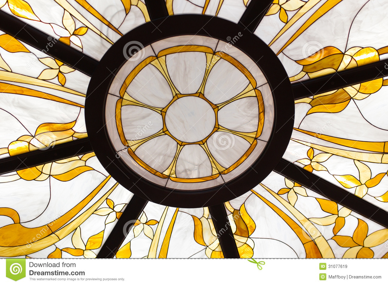 Royalty Free Stock Images: Stained glass ceiling