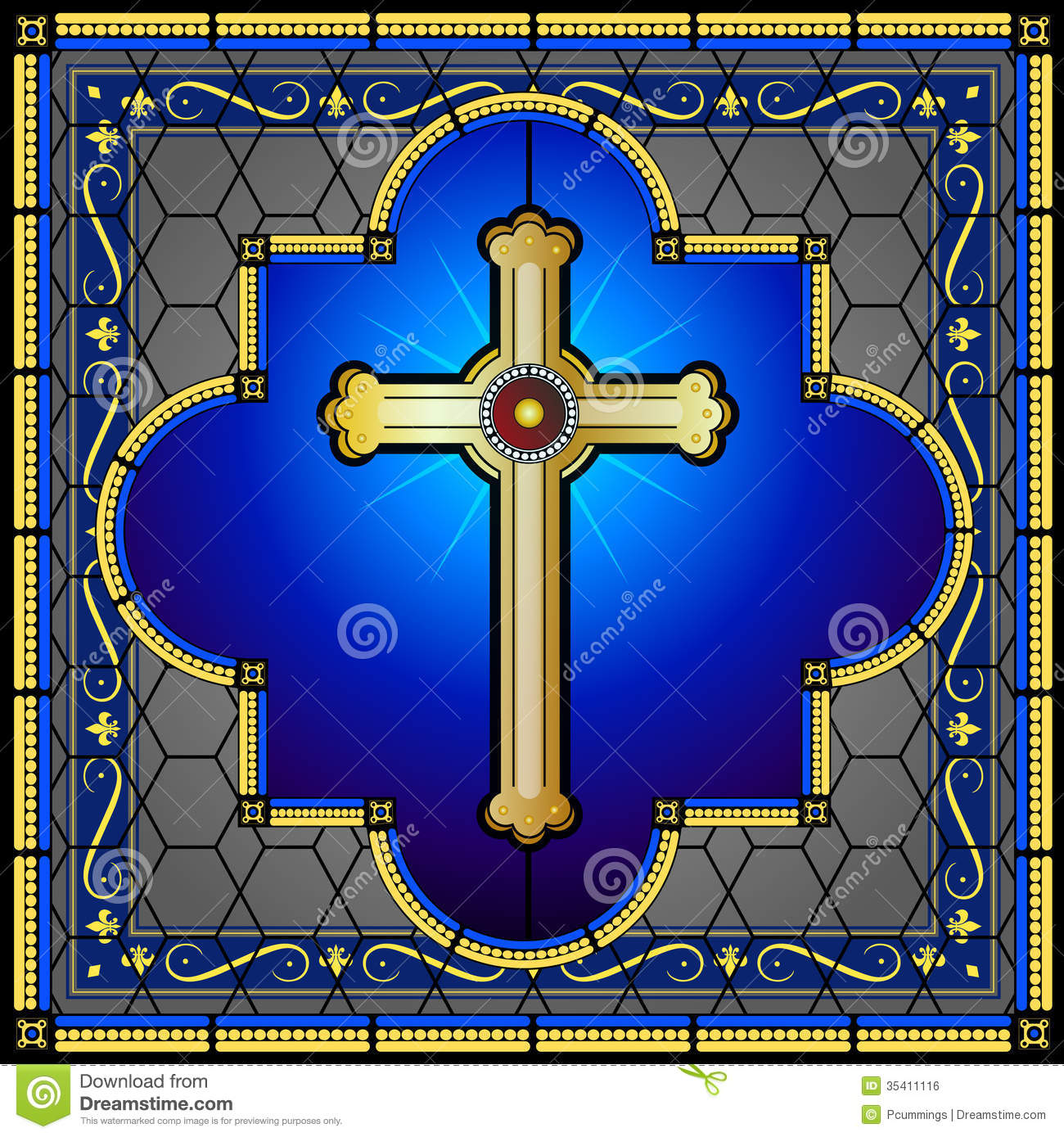 Stained Glass C... Free Christian Clip Art Thank You