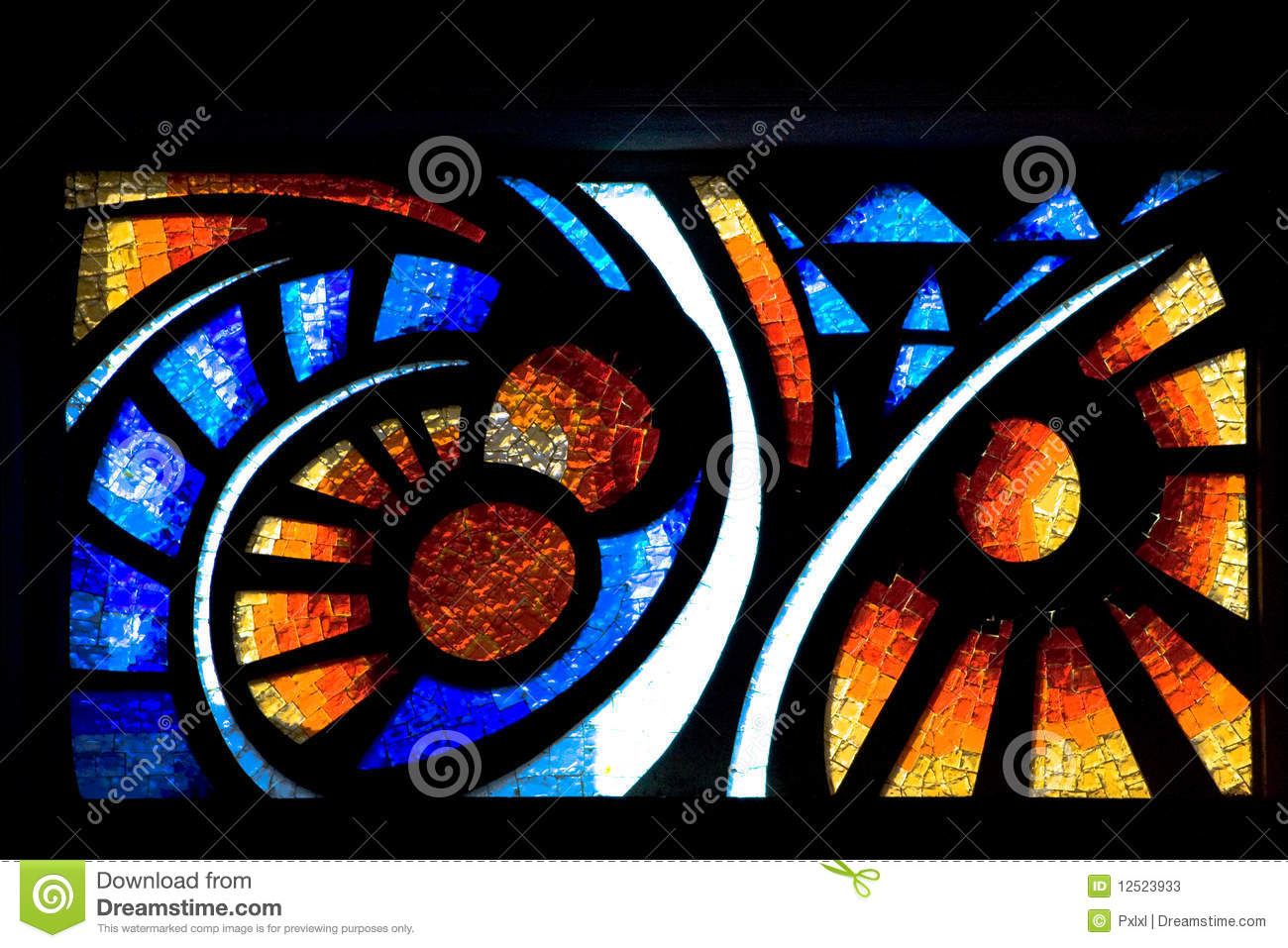 Stained Glass Church Window Stock Image