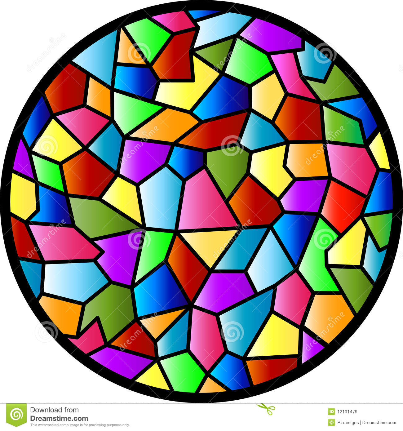 Stained Glass Circular Window Stock Illustrations 112 Vectors Clipart