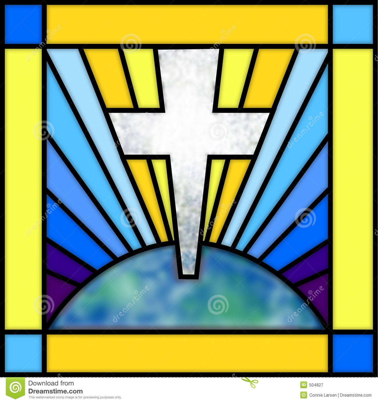 Stained Glass Cross Royalty Free Stock Photography Image 504827