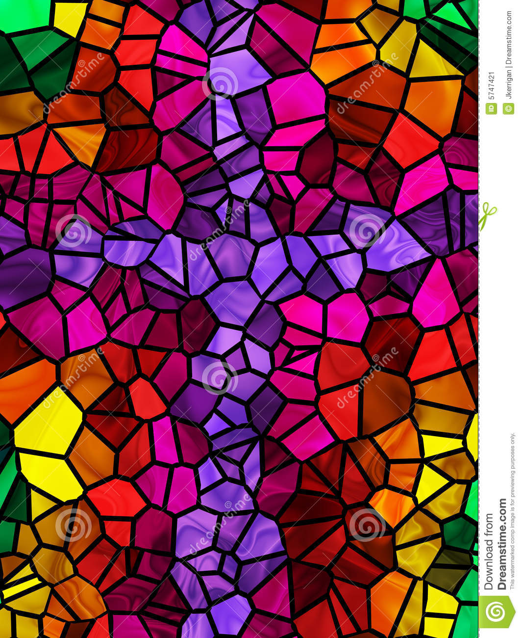 Stained Glass Cross Stock Image