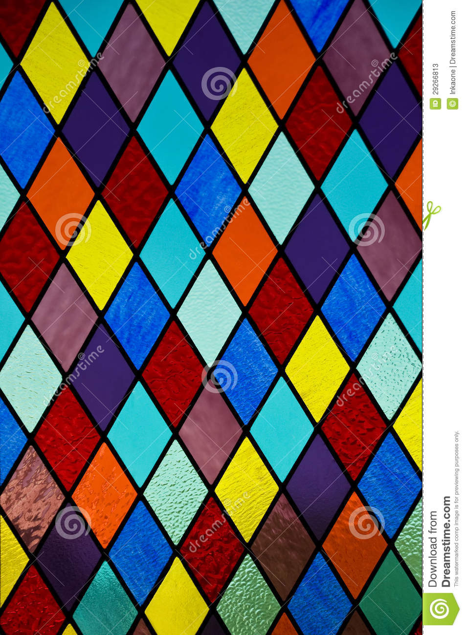 Blue glass window texture stained glass window texture - Stained Glass With Diamond Pattern Stock Photos Image