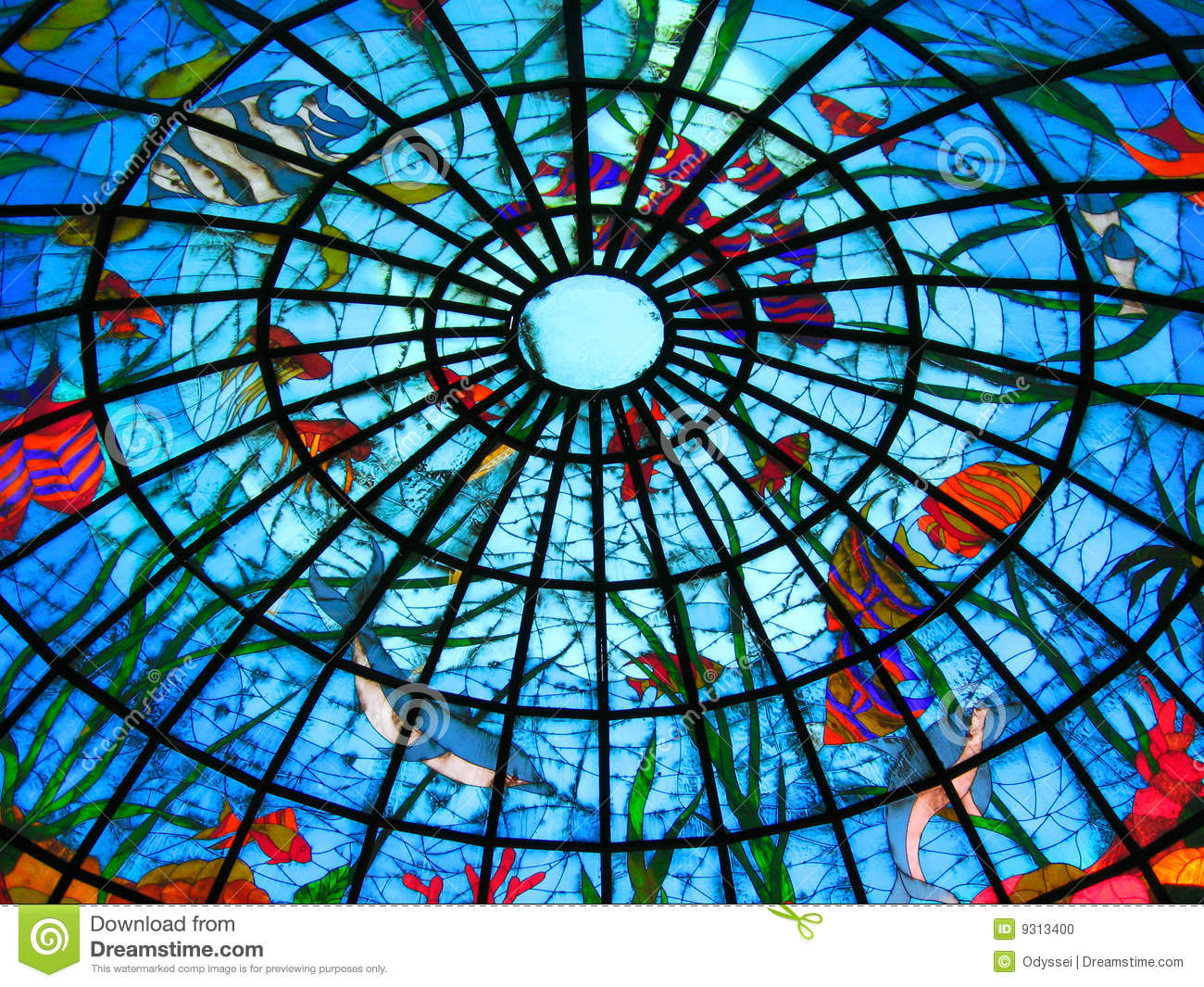 Stained Glass Dome Stock Photo Image Of Colored Colorful