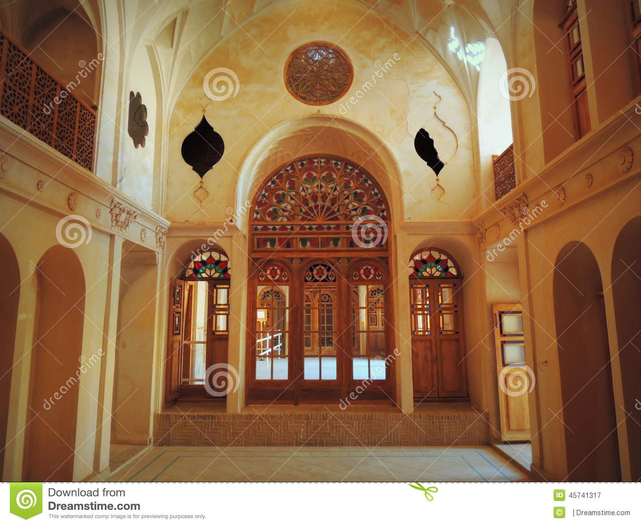 Stained Glass Doors Windows Rose Inside Muslim Palace
