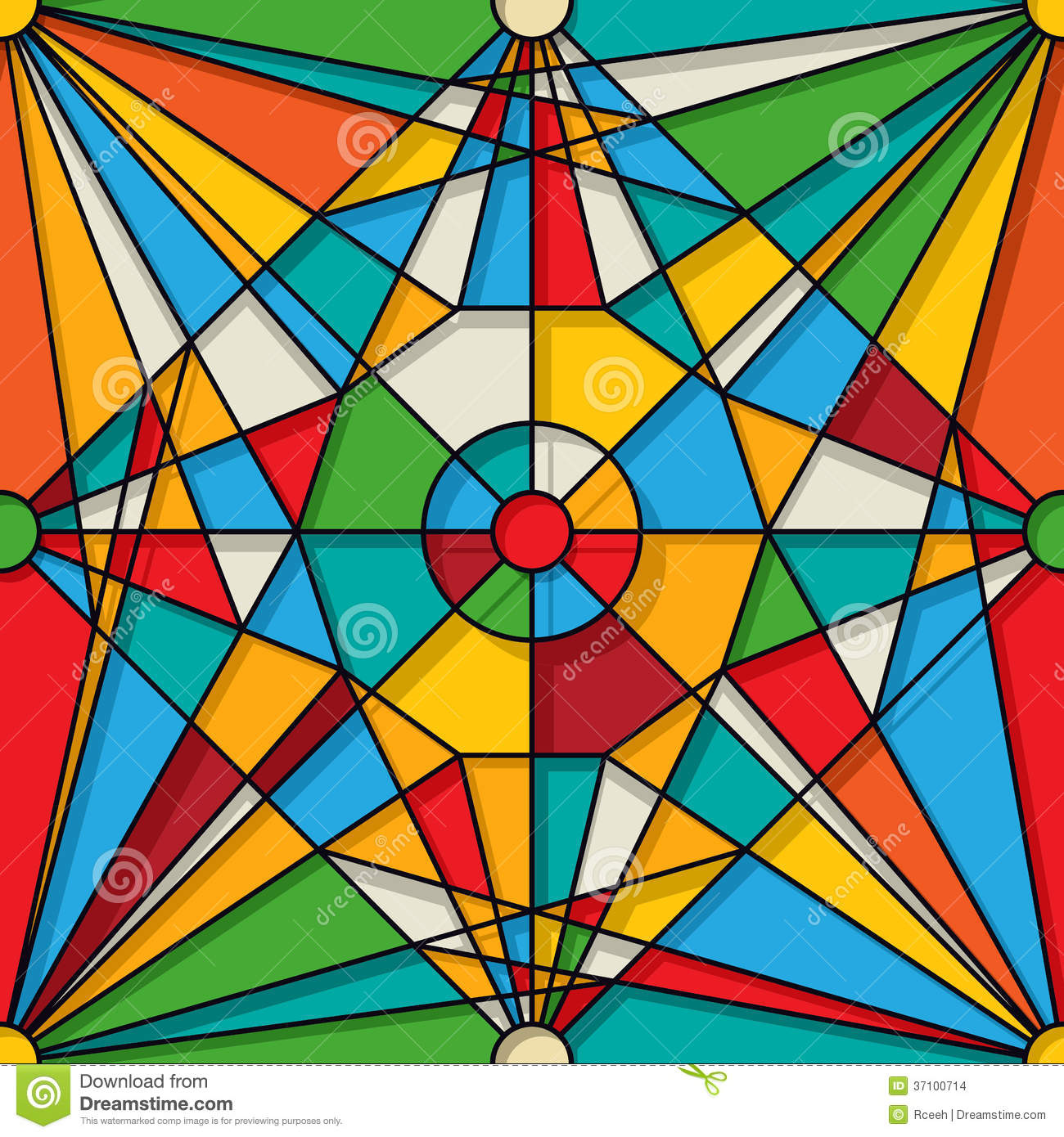 Stained Glass Pattern Stock Images Image 37100714