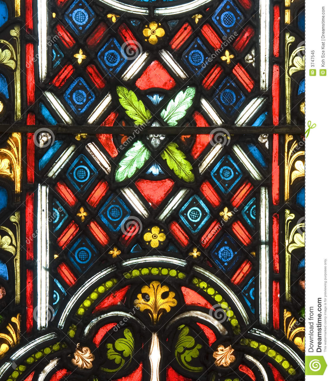 Stained Glass Patterns Stock Image Of Colorful